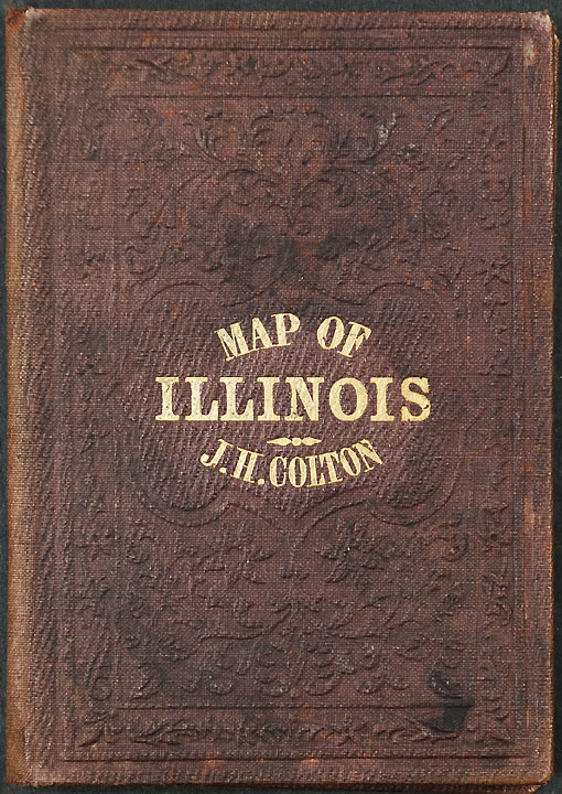 Illinois [with inset: Vicinity of Chicago]. J. H. COLTON.