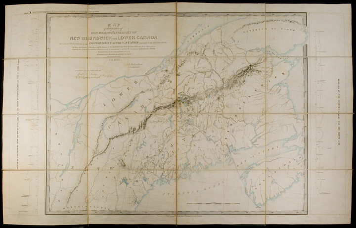 North American Boundary: Maps A and B, appended to the report of the British Commissioners, appointed in 1839, to survey and explore the Territory in dispute between the governments of Great Britain and the United States of America, under the second article of the Treaty of 1783. James D. FEATHERSTONHAUGH, Richard L. MUDGE.