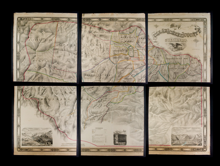 Map of Clear Creek County, Colorado. Drawn and compiled by Theo. H. Lowe and F.F. Bruné, C.E., Idaho, Colorado, Ter. Theodore H. LOWE, Francis F. BRUNÉ.
