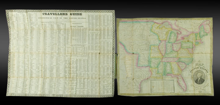 Map of the United States. James W. WEBSTER.
