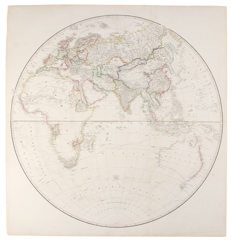 [Map of the World on a Globular Projection, Exhibiting Particularly the Nautical Researches of Capn. James Cook, F.R.S. with all the Recent Discoveries to the Present Time, ... This Map Is Respectfully Dedicated To Alexander Dalrymple Esqr. F.R.S. In Testimony of his many New and Valuable Geographical Communications To His most Obedient and very Humble Servant A. Arrowsmith]. Aaron ARROWSMITH.