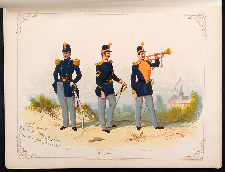 Regulations for the Uniform & Dress of the Army of the United States. June 1851. From the original text and drawings in the War Department. UNITED STATES ARMY.