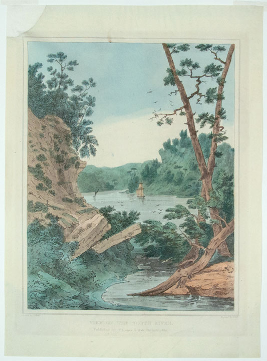 View on the North River. John HILL, Joshua H. SHAW, engraver, artist.