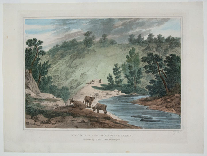 View on the Wisahiccon, Pennsylvania. John HILL, Joshua H. SHAW, engraver, artist.