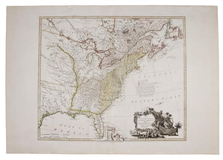 The United States of North America: with the British Territories and those of Spain, according to the Treaty, of 1784. William FADEN.