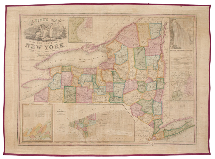 Squire's Map of the State of New York, Containing all the Towns in the State. William CHAPIN.