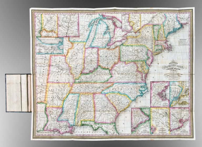 Mitchell's Travellers Guide Through the United States. A Map of the Roads, Distances, Steam Boat & Canal Routes. S. Augustus - J. H. YOUNG UNITED STATES - MITCHELL, publisher.