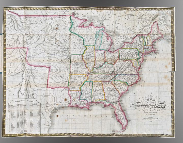 Map of the United States constructed from the latest authorities. C. S. WILLIAMS.