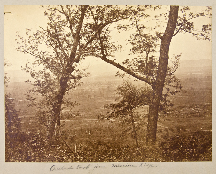Orchard Knob from Mission Ridge. George N. BARNARD.