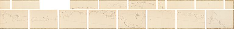 [Manuscript map, titled within the map:] The Road from Boston to Albany by way of Springfield and Great Barrington ... [and] ... by way of Northampton to Albany. Sir Francis BERNARD, surveyor Francis MILLER.