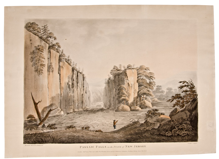 Passaic Falls in the State of New Jersey. FRANCIS after ALEXANDER ROBERTSON JUKES.