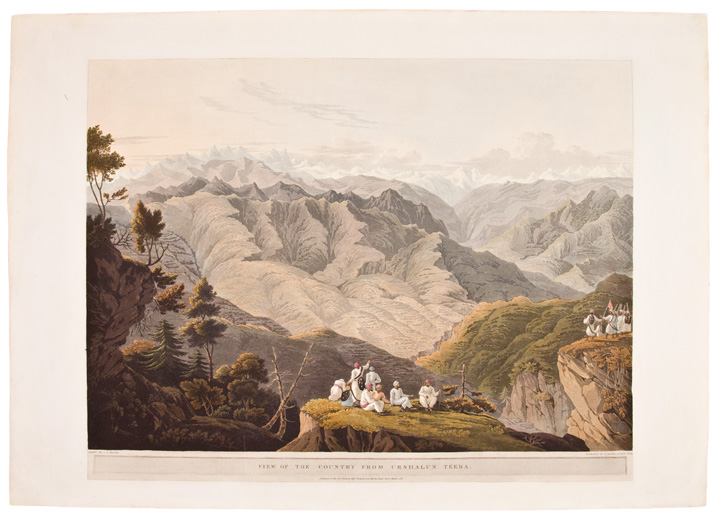 View of the Country from Urshalun Teeba. James Baillie FRASER.