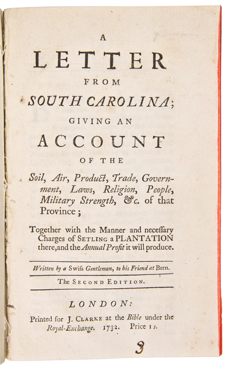 A letter from south carolina giving an account of the for South carolina soil