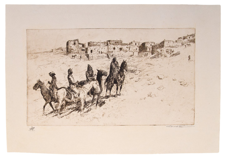 [Navajo Visitors at Oraibi]. Edward BOREIN.