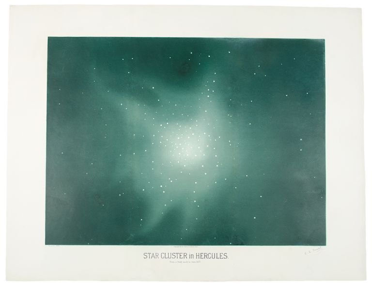 Star Cluster in Hercules. From a Study made in June 1877. Étienne Léopold TROUVELOT.