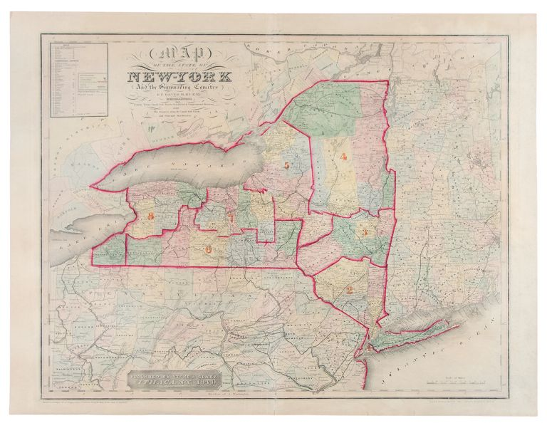 Map of the State of New York and the Surrounding Country. David BURR.