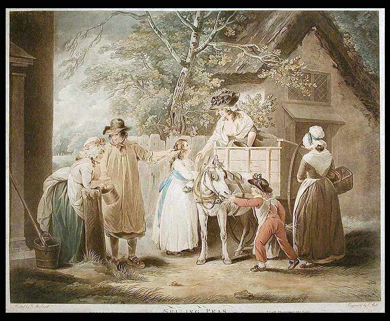 Selling Peas. after George MORLAND BELL, 1763 - 1804, dward.