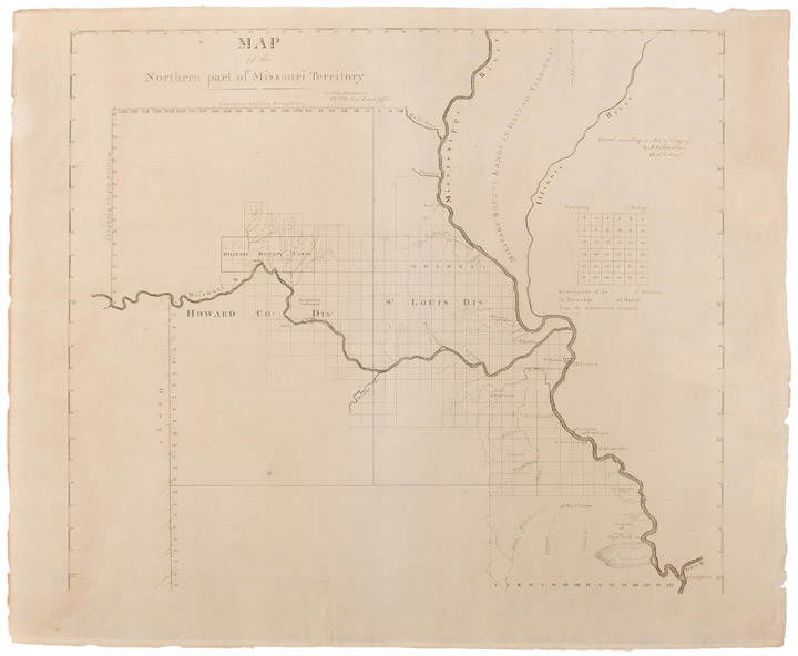 Map of the Northern Part of Missouri Territory. John GARDINER, d. 1839.