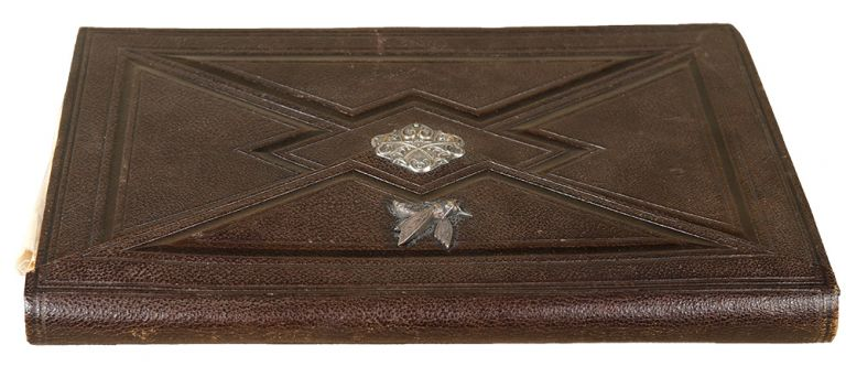 [French morocco wallet-style secretary binding with silver clasp]. BINDING.