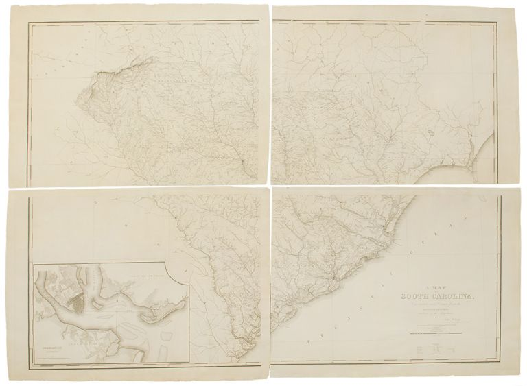 A Map of South Carolina: Constructed and Drawn from the District Surveys Ordered by the Legislature. John WILSON.