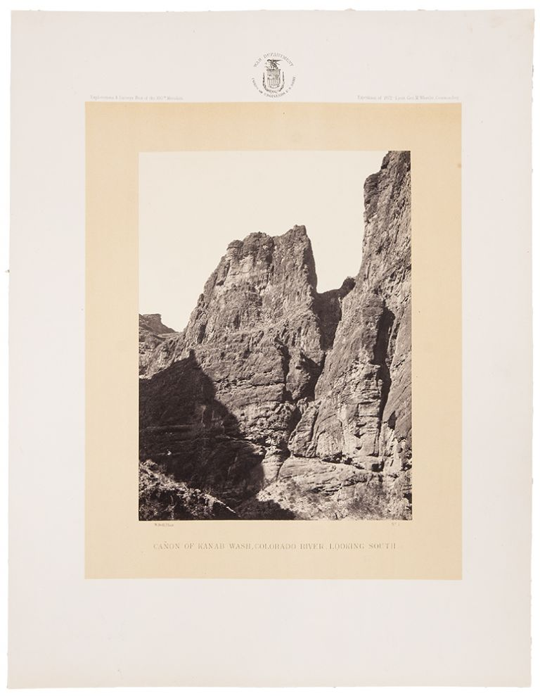 [Photographs Showing Landscapes, Geological and Other Features of Portions of the Western Territory of the United States]. WHEELER SURVEY, -- Timothy O'SULLIVAN, William BELL, photographers, ca.
