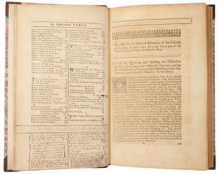 Acts of Assembly passed in the Province of New-York, from 1691-1725. Examined and compared with the originals in the secretary's office. General Assembly NEW YORK.