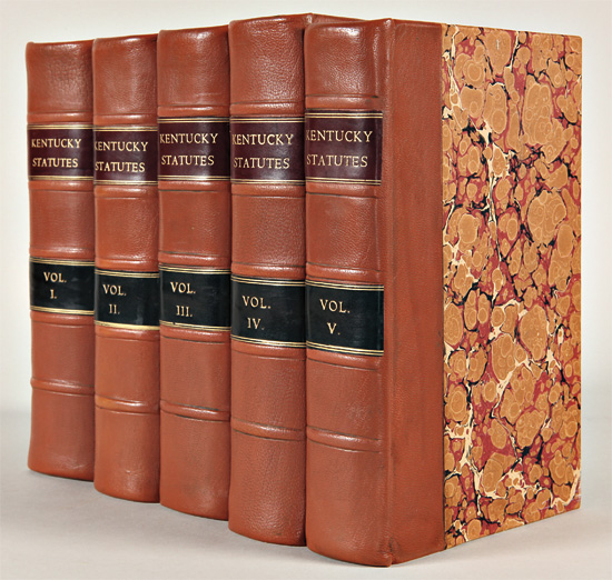 The Statute Law of Kentucky; with Notes, Praelections, and Observations on the Public Acts. In Five Volumes. William LITTELL.