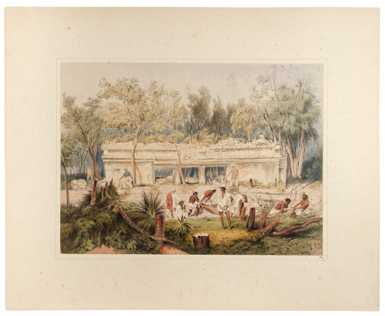 Temple, at Tuloom. Frederick CATHERWOOD.