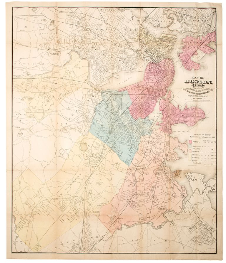 New Map of Boston. DAVENPORT SAMPSON, CO, publisher.