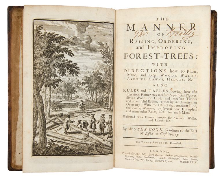 The Manner of Raising Ordering and Improving Forest-Trees: With Directions How to Plant, Make and Keep Woods, Walks, Avenues, Lawns, Hedges, &c. ... the third edition, corrected. Moses COOK, d. 1715.