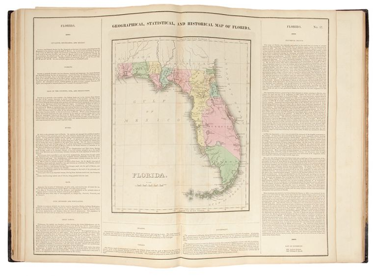 A Complete Historical, Chronological, and Geographical American Atlas, being a guide to the history of North and South America, and the West Indies: exhibiting an accurate account of the discovery, settlement, and progress, of their various kingdoms, states, provinces, &c. Together with the wars, celebrated battles, and remarkable events, to the year 1826. Henry Charles CAREY, Isaac LEA, publishers.