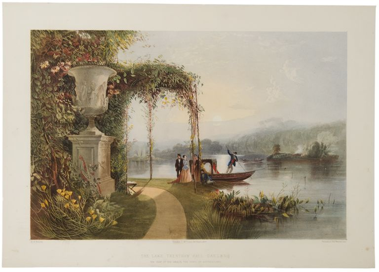 The Lake, Trentham Hall Gardens, The Seat of His Grace the Duke of Sutherland. After E. Adveno BROOKE, active.