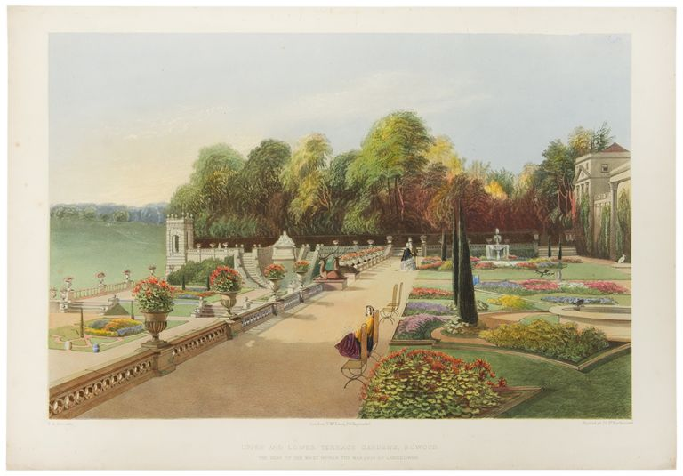 Upper and Lower Terrace Gardens, Bowood. The Seat of the Most Noble the Marquis of Lansdowne. After E. Adveno BROOKE, active.