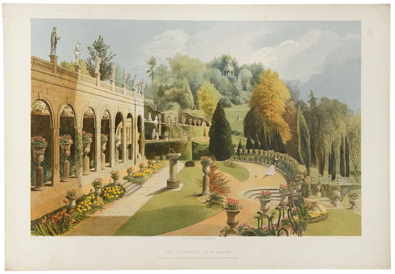 The Colonnade, Alton Gardens. The Seat of the Right Hnble. The Earl of Shrewsbury. After E. Adveno BROOKE, active.