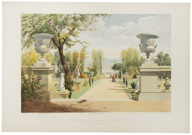 View in the Gardens at Westfield House, (Isle of Wight.) The Seat of Sir Agustus (sic) Clifford Bart. After Edward Adveno BROOKE.