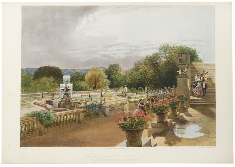 The Parterre, Harewood House, Nr. Leeds. The Seat of the Rt. Honble. The Earl of Harewood. After E. Adveno BROOKE, active.