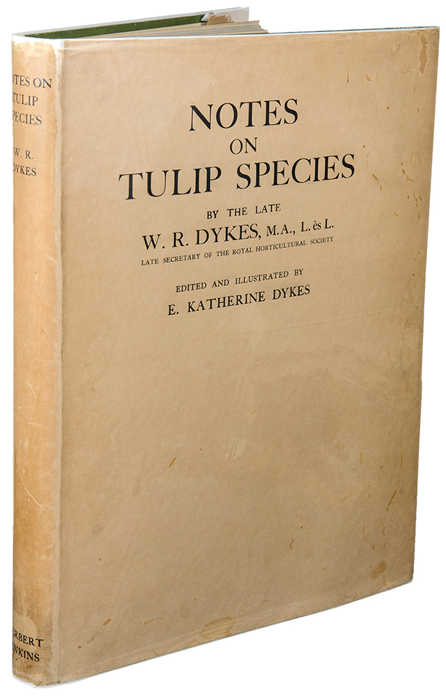 Notes on Tulip Species. William R. DYKES, E. Katherine DYKES, d. 1933.