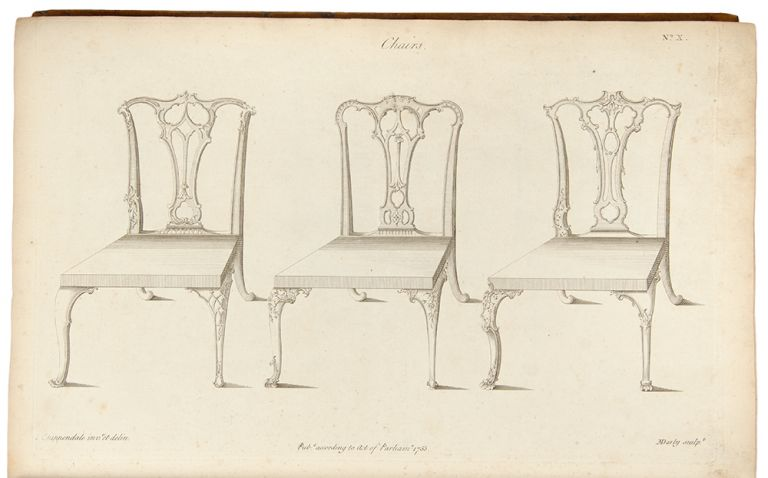 The Gentleman and Cabinet-Maker's Director: being a large collection of the most elegant and useful designs of household furniture, in the most fashionable taste ... The Third Edition. Thomas CHIPPENDALE.