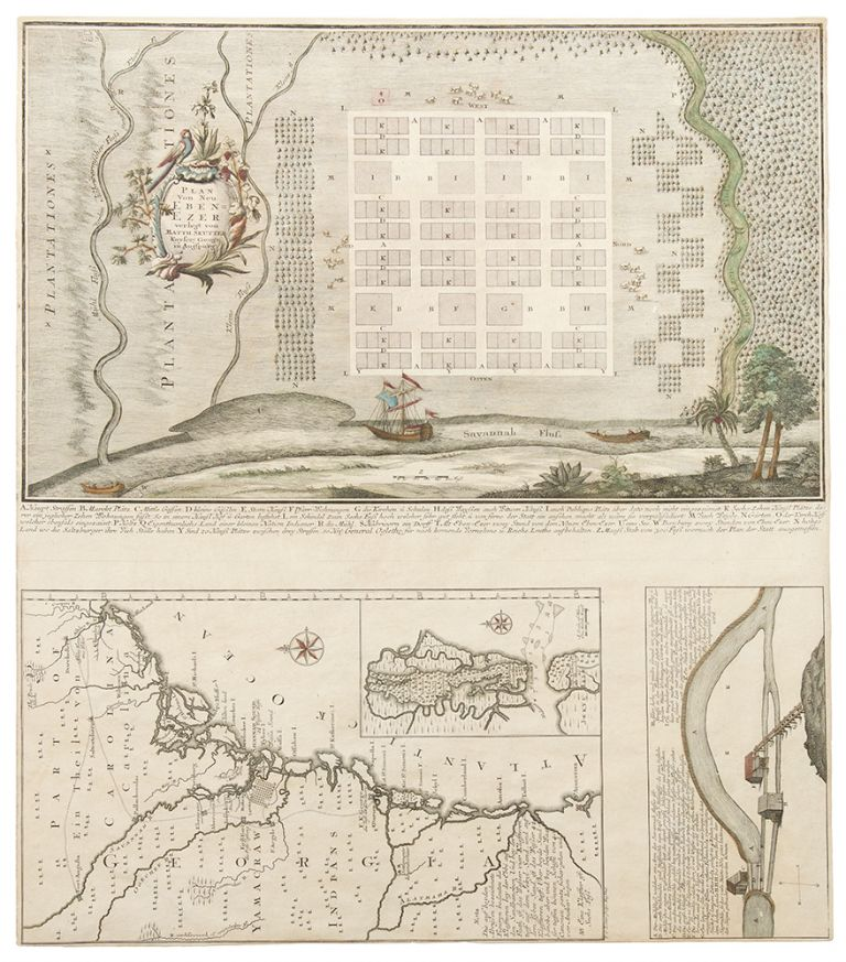 [Georgia, with the New Ebenezar Settlement] Plan von Neu Ebenezer. Matthäus SEUTTER.