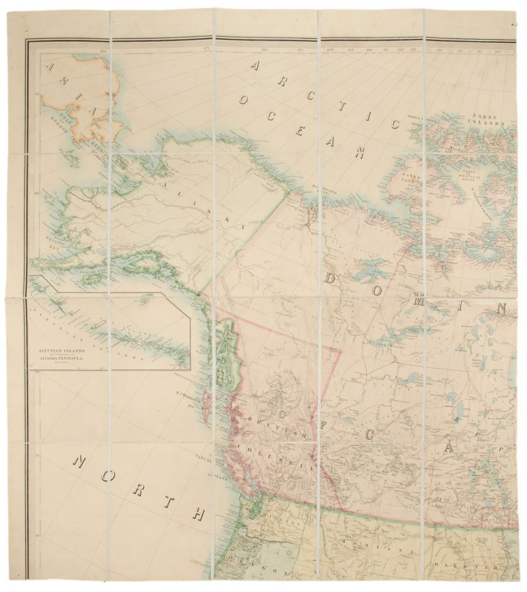 Stanford's Library Map of North America. Alexander Keith JOHNSTON.