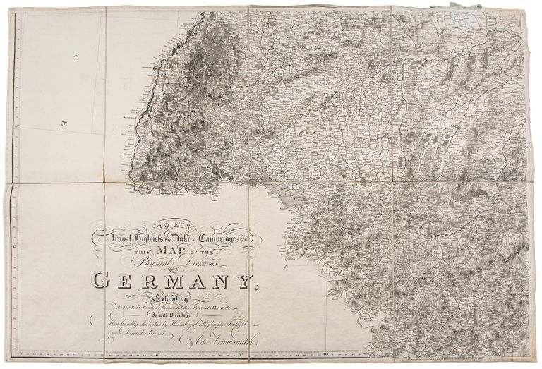 To His Royal Highness the Duke of Cambridge, K. G. &c. This Map of the Physical Divisions of Germany Exhibiting the Post Roads, Canals, &c. Constructed from Original Materials. Aaron ARROWSMITH.