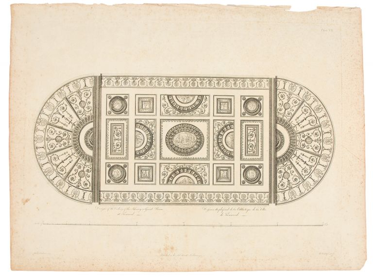 Design of the Ceiling of the Library or Great Room at Kenwood. After Robert ADAM.