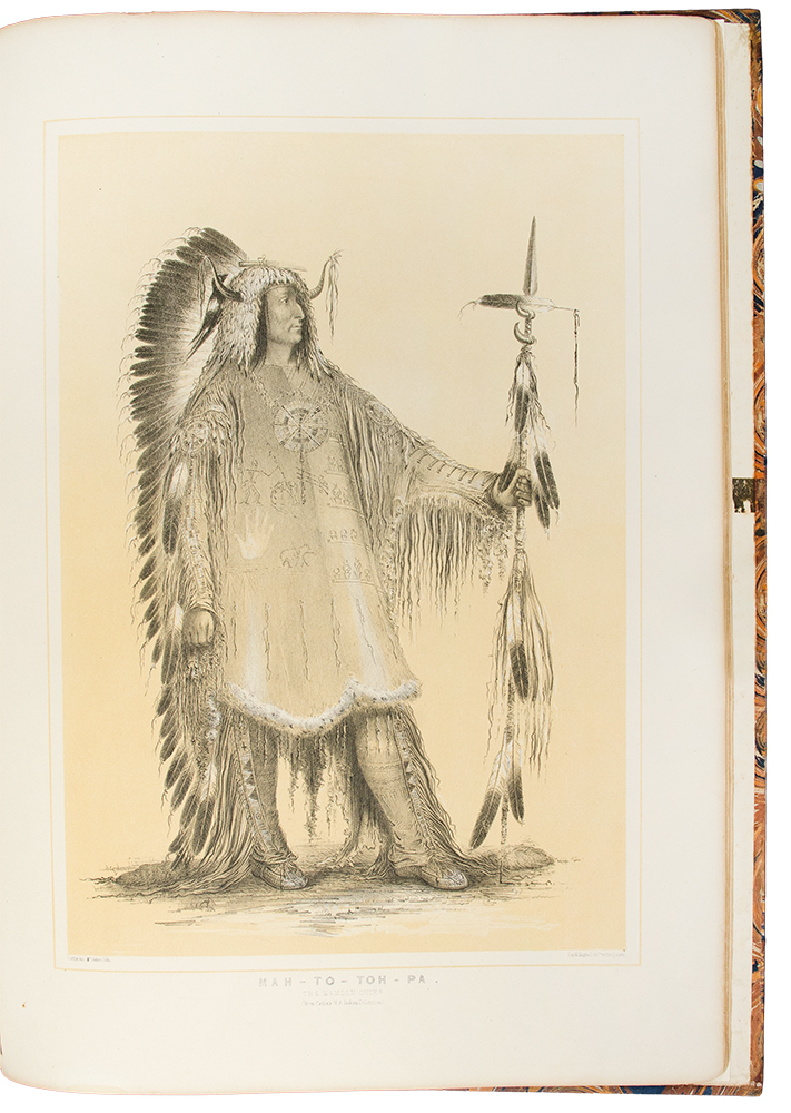 [Catlin's North American Indian Portfolio. Hunting Scenes and Amusements of the Rocky Mountains and Prairies of America. From Drawings and Notes of the Author, made during Eight Years' Travel amongst Forty-Eight of the Wildest and most Remote Tribes of Savages in North America]. George CATLIN.