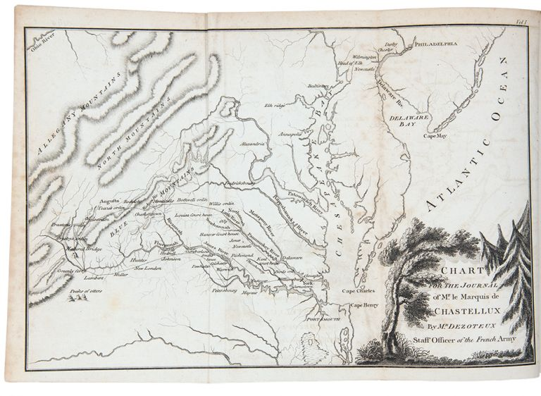 Travels in North-America, in the years 1780, 1781, and 1782. By the Marquis de Chastellux, one of the forty members of the French academy, and Major General in the French army serving under the Count de Rochambeau. Translated from the French by an English gentleman, who resided in America at that period. With notes by the translator. FRANCOIS JEAN CHASTELLUX, Marquis de.