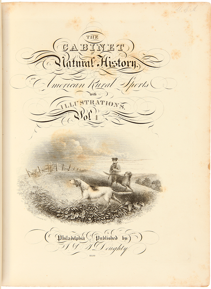 The Cabinet of Natural History, and American Rural Sports with Illustrations. JOHN AND THOMAS DOUGHTY.