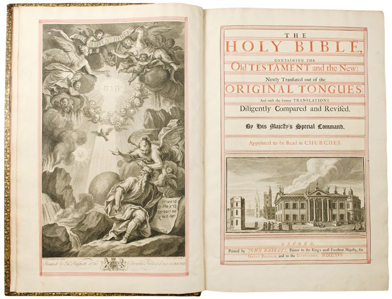 The Holy Bible, containing the Old Testament and the New: Newly Translated out of the Original Tongues: And Hath the former Translations Diligently Compared and Revised. BIBLE IN ENGLISH.
