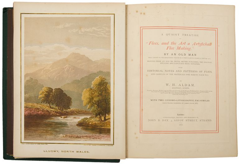 """A Quaint Treatise on """"Flees, and the Art of Artyfichall Flee Making"""" By an Old Man Well Known on the Derbyshire Streams as a First-Class Fly-Fisher a Century Ago. W. H. ALDAM."""
