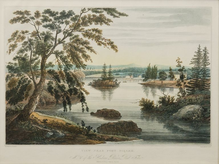 View Near Fort Miller. No. 10 of the Hudson River Port Folio (later No. 9). John HILL, William Guy WALL, engraver.