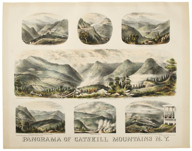 Panorama of Catskill Mountains N. Y. SCHILE, enry.