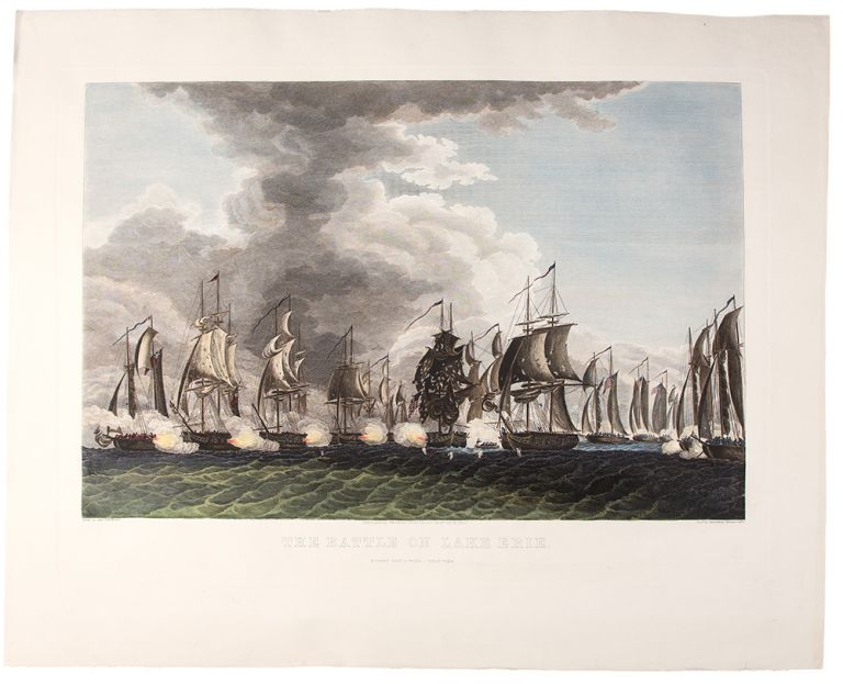 The Battle on Lake Erie. Fought Sept. 10th 1813 - First View. Thomas SULLY, Francis Kearny.